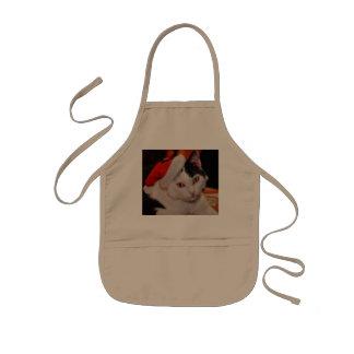 Santa claus cat - merry christmas - pet cat kids apron