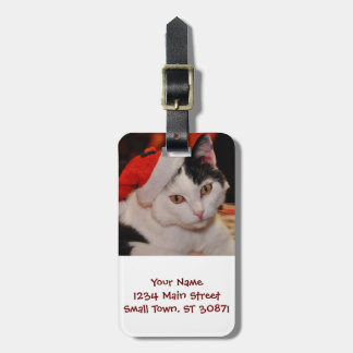 Santa claus cat - merry christmas - pet cat luggage tag
