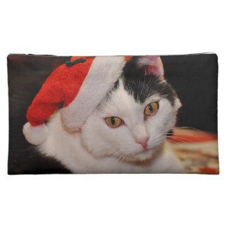 Santa claus cat - merry christmas - pet cat makeup bag