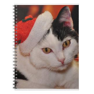 Santa claus cat - merry christmas - pet cat notebook