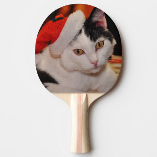 Santa claus cat - merry christmas - pet cat ping pong paddle