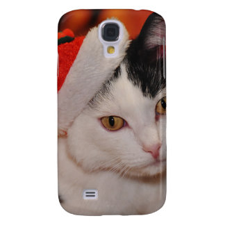 Santa claus cat - merry christmas - pet cat samsung galaxy s4 covers