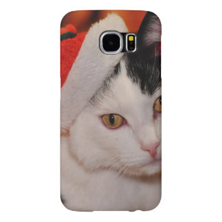 Santa claus cat - merry christmas - pet cat samsung galaxy s6 cases