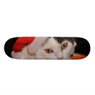 Santa claus cat - merry christmas - pet cat skateboards
