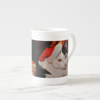 Santa claus cat - merry christmas - pet cat tea cup