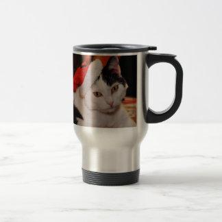 Santa claus cat - merry christmas - pet cat travel mug