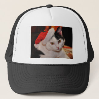 Santa claus cat - merry christmas - pet cat trucker hat