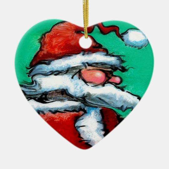 Santa Claus Ceramic Ornament