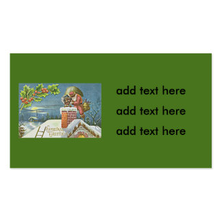Santa Claus Chimney Presents Church Holly Pack Of Standard Business Cards
