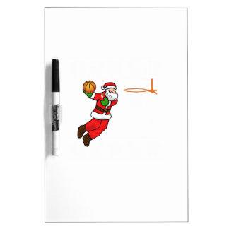 Santa Claus Christmas Basketball Player Dry Erase Board