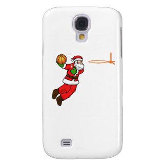 Santa Claus Christmas Basketball Player Galaxy S4 Cover
