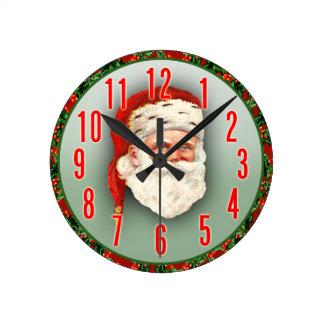 Santa Claus Christmas Clock