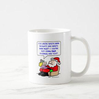 santa claus christmas dna evidence coffee mugs