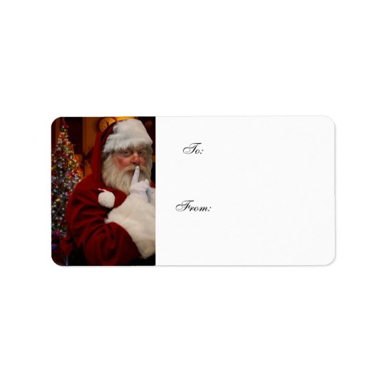 Santa Claus Christmas Eve Christmas Present Labels