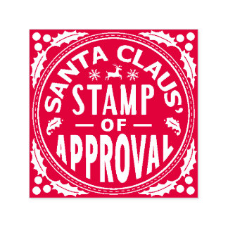 Santa Claus Christmas Funny Stamp of Approval