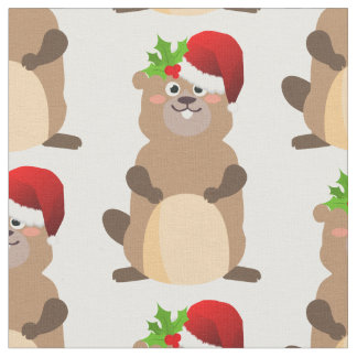 Santa Claus christmas gopher fabric