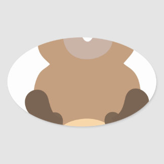 Santa Claus christmas gopher Oval Sticker