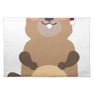 Santa Claus christmas gopher Placemat
