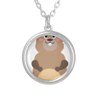 Santa Claus christmas gopher Silver Plated Necklace