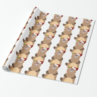 Santa Claus christmas gopher Wrapping Paper