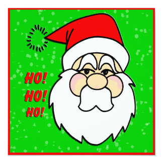 Santa Claus Christmas Invitation