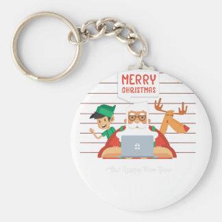 santa claus christmas key ring