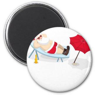santa claus christmas magnet