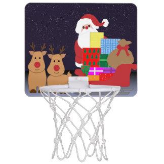 SANTA CLAUS CHRISTMAS MINI BASKETBALL HOOP