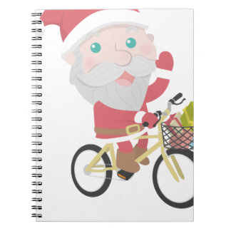 santa claus christmas notebook