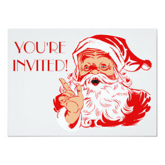 Santa Claus Christmas Party 2016 Invitations
