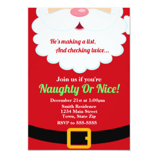 Santa Claus Christmas Party Invitation Holiday Kid