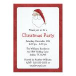 Santa Claus Christmas Party Invitations
