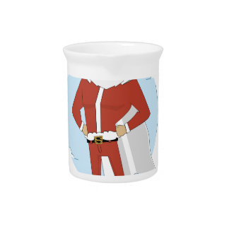 santa claus christmas pitcher