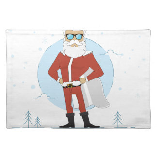 santa claus christmas placemat