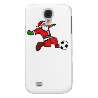 Santa claus Christmas soccer player Samsung Galaxy S4 Cover