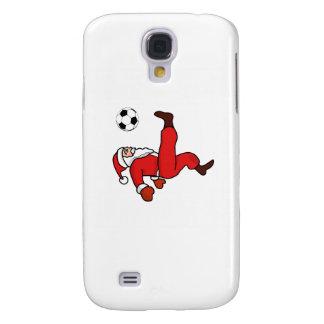 Santa claus Christmas soccer player Samsung Galaxy S4 Covers