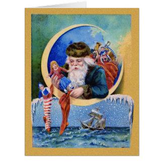 Santa Claus Christmas Toys Big Card