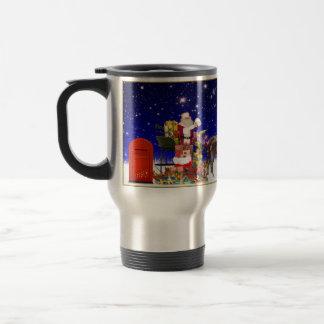 Santa Claus Christmas Travel/Commuter Mug, 15oz Travel Mug