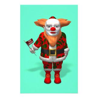 Santa Claus Clown Stationery