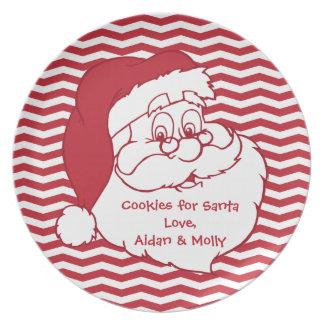 Santa Claus Cookie Plate