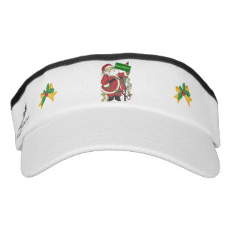 Santa Claus Cute Animals Merry Christmas Visor