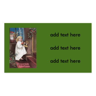 Santa Claus Cute Little Girl Toys Holly Pack Of Standard Business Cards