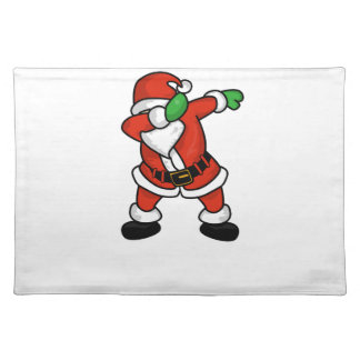 Santa Claus dab dance christmas T-shirt Placemat