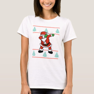Santa Claus dab dance ugly christmas T-shirt