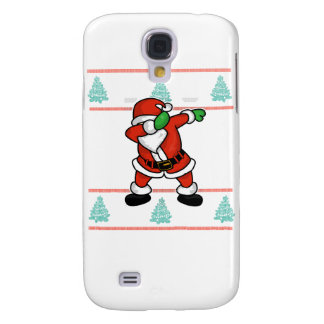 Santa Claus dab dance ugly christmas T-shirt Galaxy S4 Cases