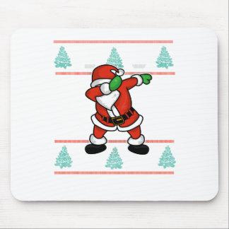 Santa Claus dab dance ugly christmas T-shirt Mouse Pad