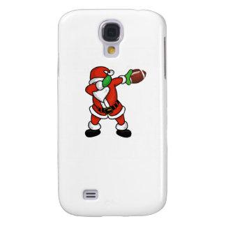 Santa Claus dabbing Christmas Football touchdown Galaxy S4 Cases