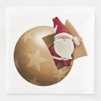 Santa Claus Dinner Paper Napkins