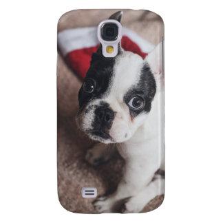 Santa claus dog -funny pug - dog claus galaxy s4 cases