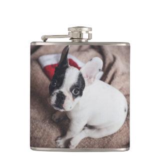 Santa claus dog -funny pug - dog claus hip flask